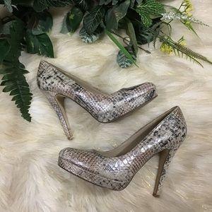 Aldo snakeskin print sexy high heel shoes
